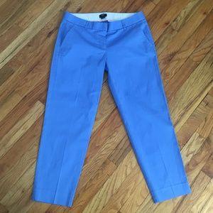 J. Crew Blue City Fit Cropped Cotton Pants